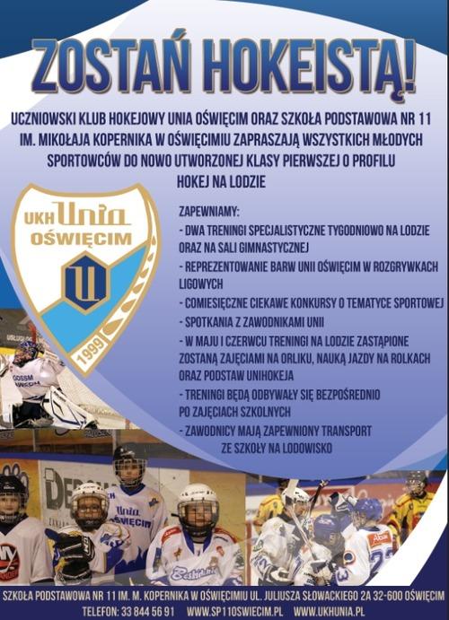 UKH Unia i SP 11 zapraszają do gry w hokeja