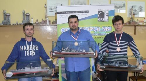 Stoją od lewej: Andrzej Zemła, Łukasz Fuczek i Wojciech Bochenek. Fot. KM Orzeł Przeciszów