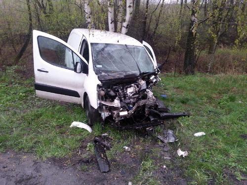 Kierowca i pasażer citroena trafili do szpitala. Fot. nadesłane