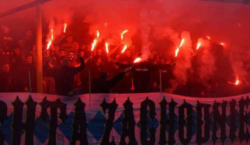 Piłkarscy kibice Unii mieli w minionym roku powody do odpalania fajerwerków. Fot. (png)