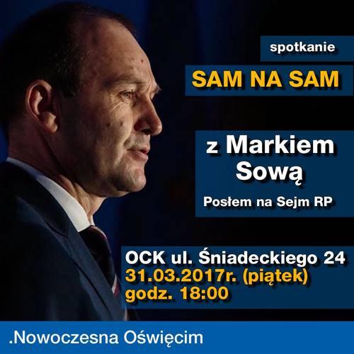"""OŚWIĘCIM. """"Sam na Sam"""" z posłem Markiem Sową"""