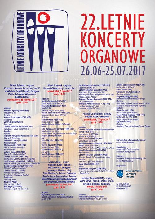 OŚWIĘCIM. Startują 22. Letnie Koncerty Organowe