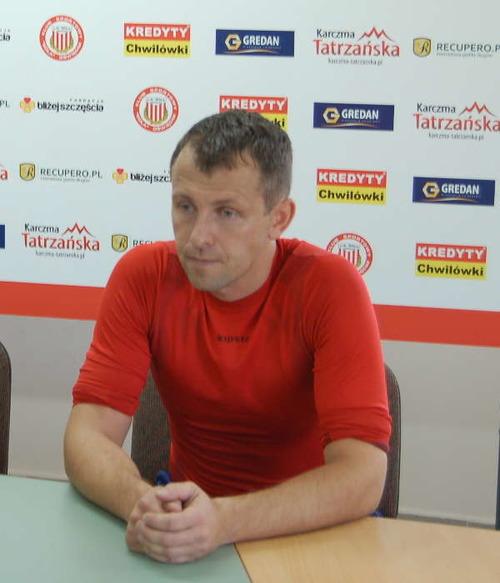 Trener solarzy - Sebastian Stemplewski był w minorowym nastroju po spotkaniu z Chełmianką Chełm. Fot. (png)