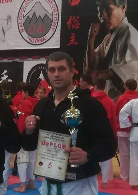 Łukasz Dadak wywalczył w Dobczycach złoty medal. Fot. zbiory KOK Brzeszcze
