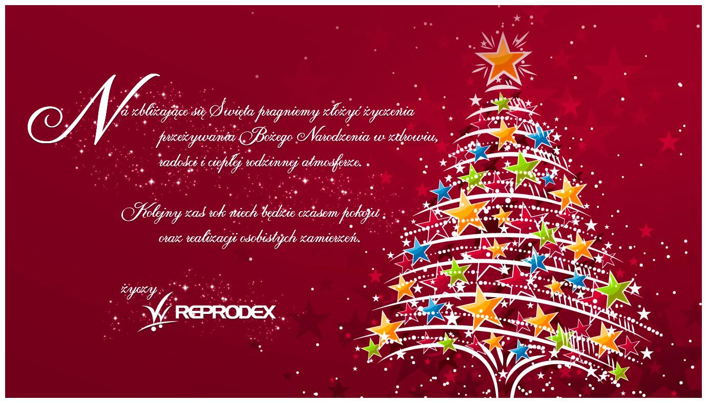 ŚWIĘTA. Życzenia świąteczno-noworoczne firmy Reprodex