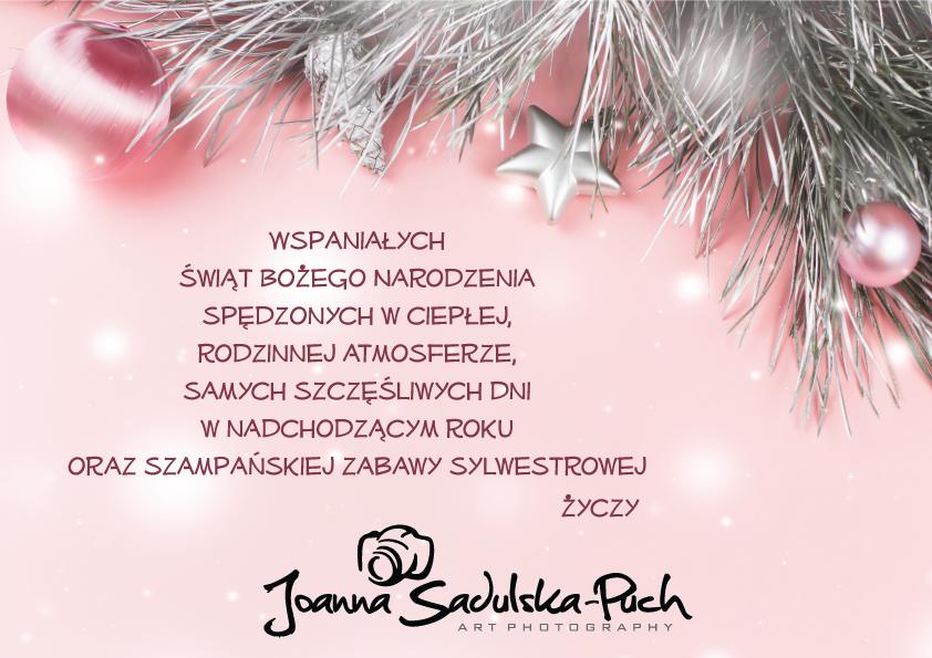 ŚWIĘTA. Życzenia świąteczno-noworoczne od Joanny Sadulskiej-Puch Art Photography