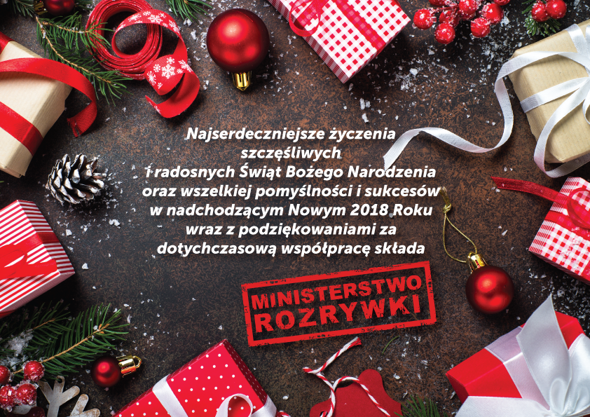ŚWIĘTA. Życzenia świąteczno-noworoczne od firmy Ministerstwo Rozrywki