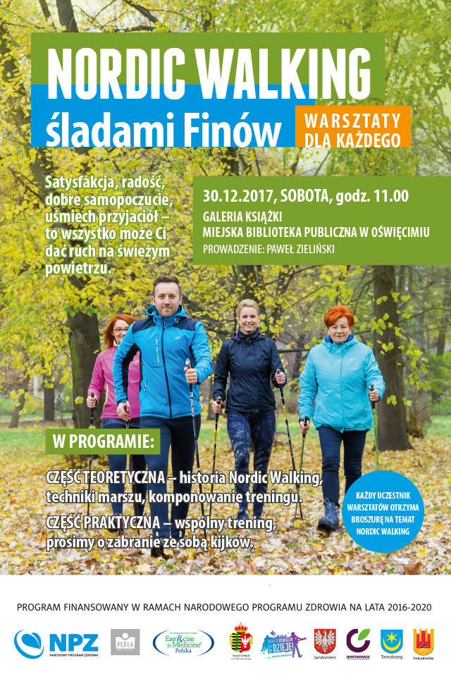 """OŚWIĘCIM. Warsztaty """"Nordic walking – śladami Finów"""""""