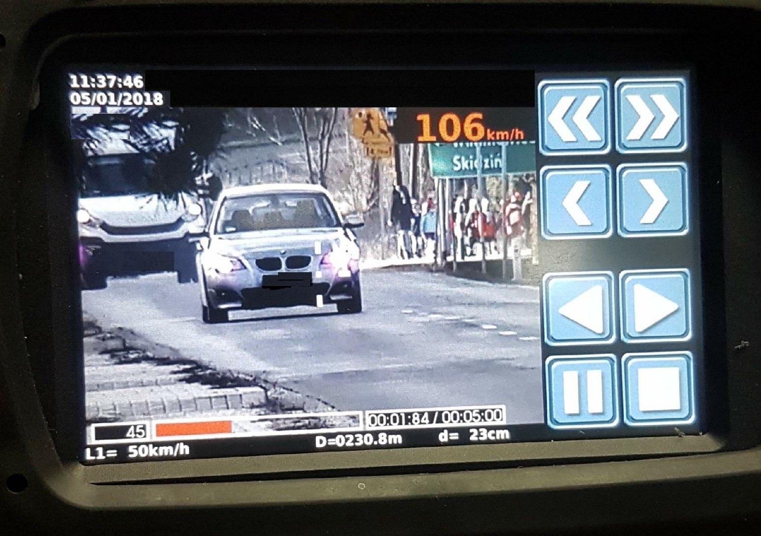 ZASOLE. Stracił prawko na trzy miesiące. Policjanci wykorzystali nowoczesny wideoradar.