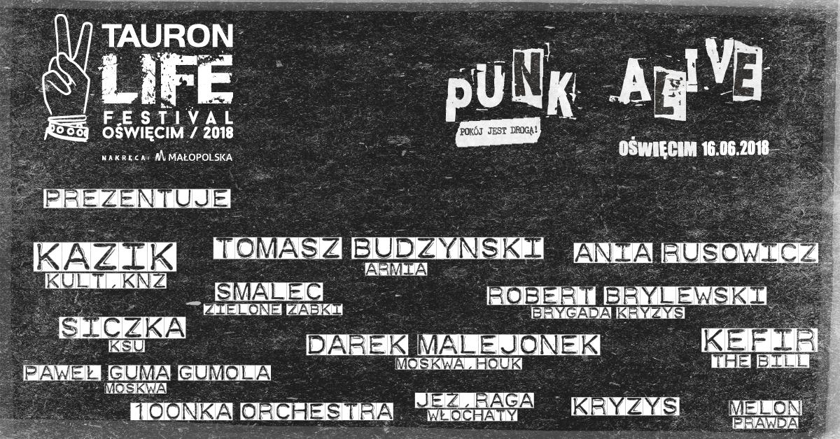 OŚWIĘCIM. Punk Alive na Tauron Life Festival. A punk rockowym miasteczku kasety i winyle