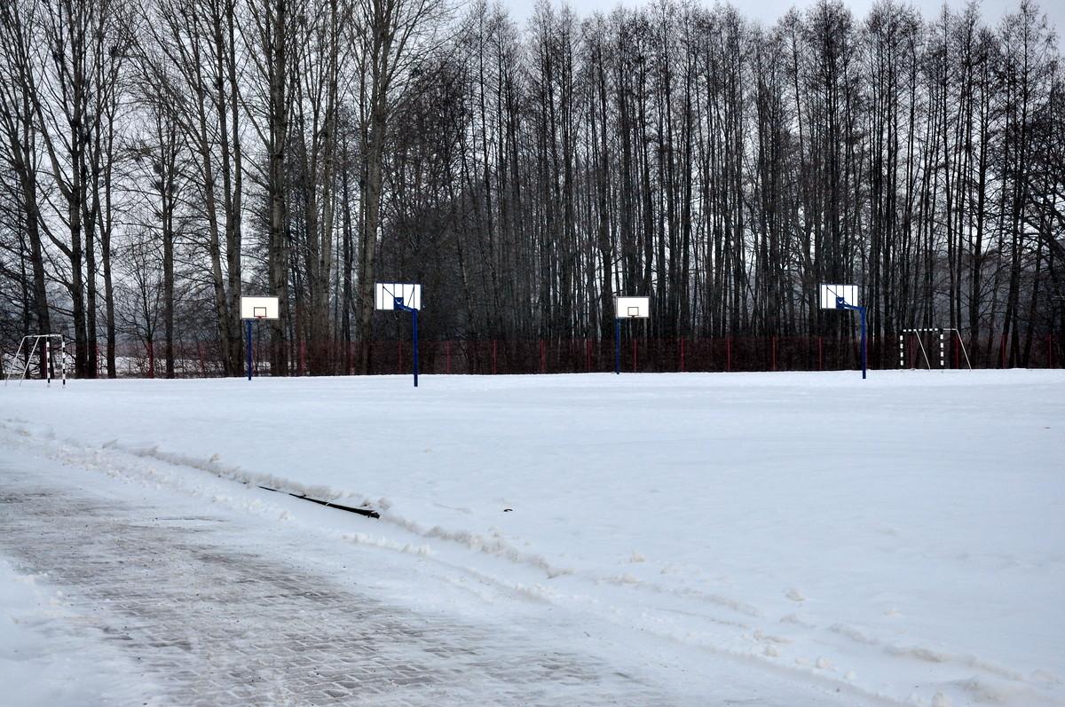 Przyszkolne boiska w Osieku nabiorą nowego wyglądu. fot. Szymon Chabior