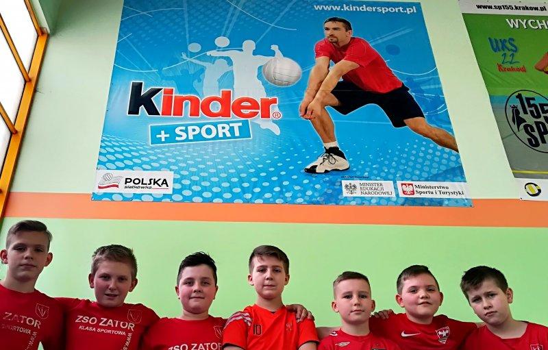 """Młodzi siatkarze z Zatora awansowali do kolejnego etapu """"Kinder+Sport 2018"""" . Fot: Justyna Jurkiewicz, http://www.zator.pl"""