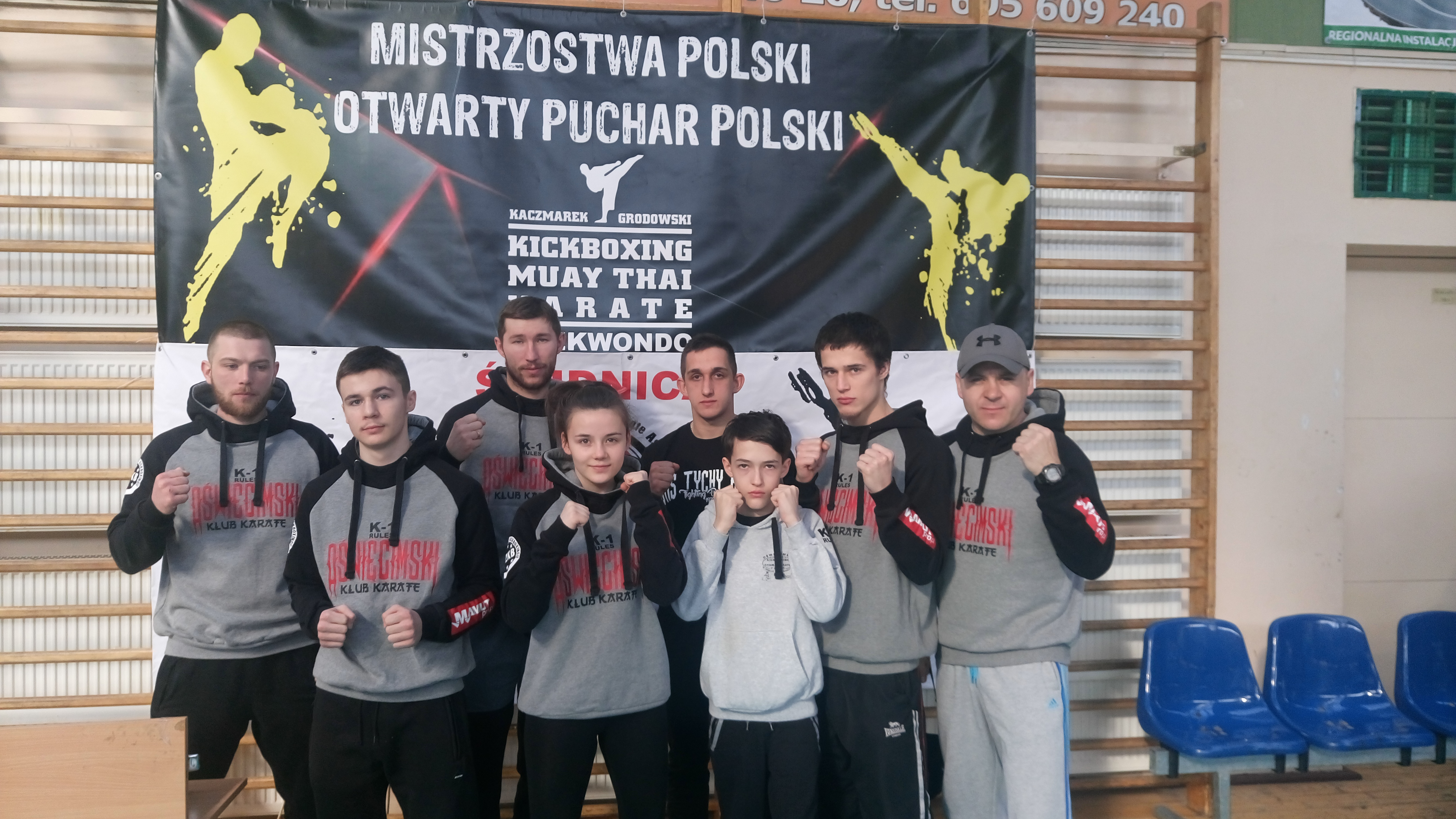 Oświęcimscy kick-boxerzy wywalczyli w Świdnicy siedem medali. Fot. zbiory klubu