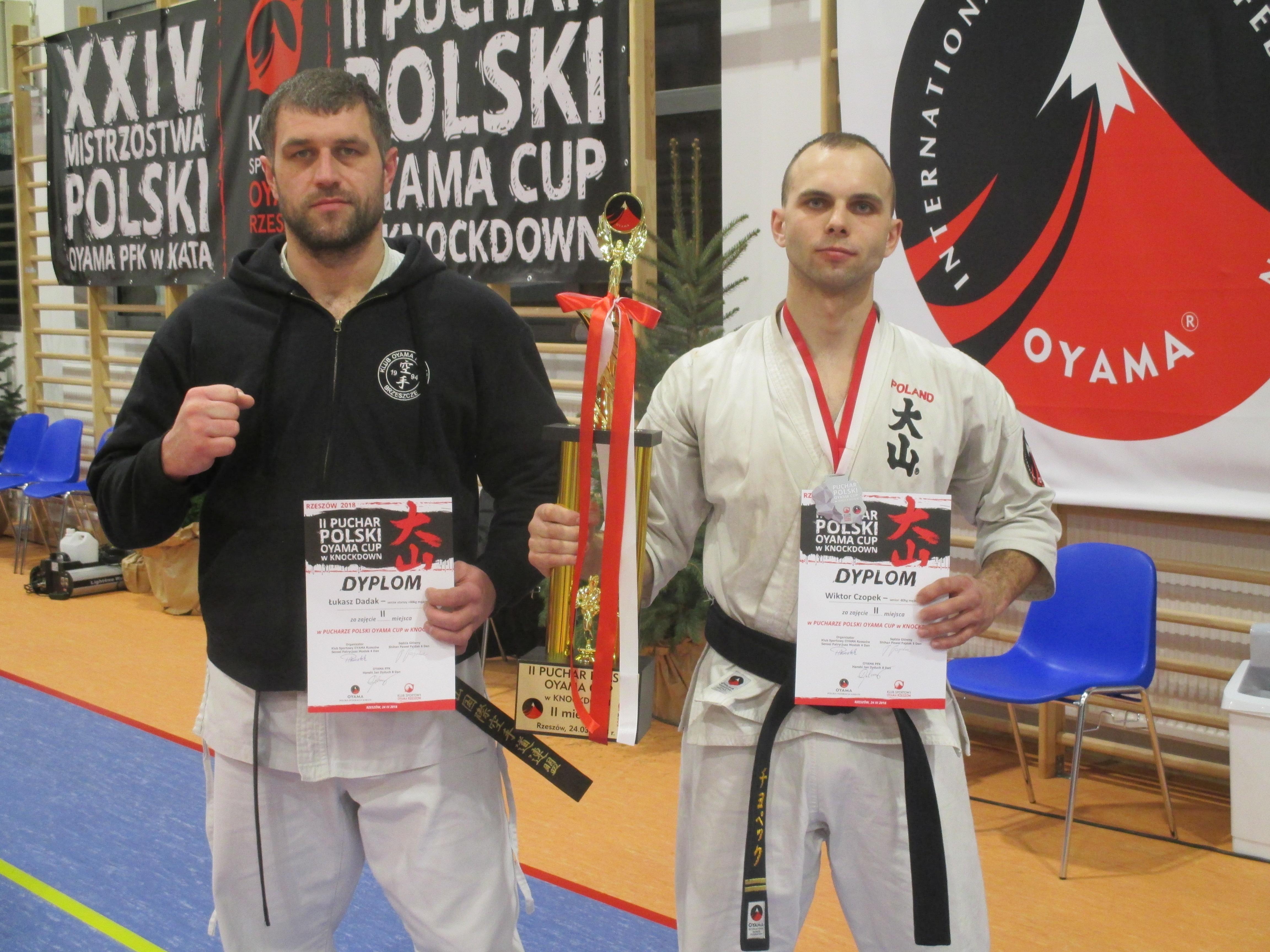 Srebrni medaliści z Brzeszcz - Łukasz Dadak (z lewej) i Wiktor Czopek. Fot. zbiory KOK Brzeszcze