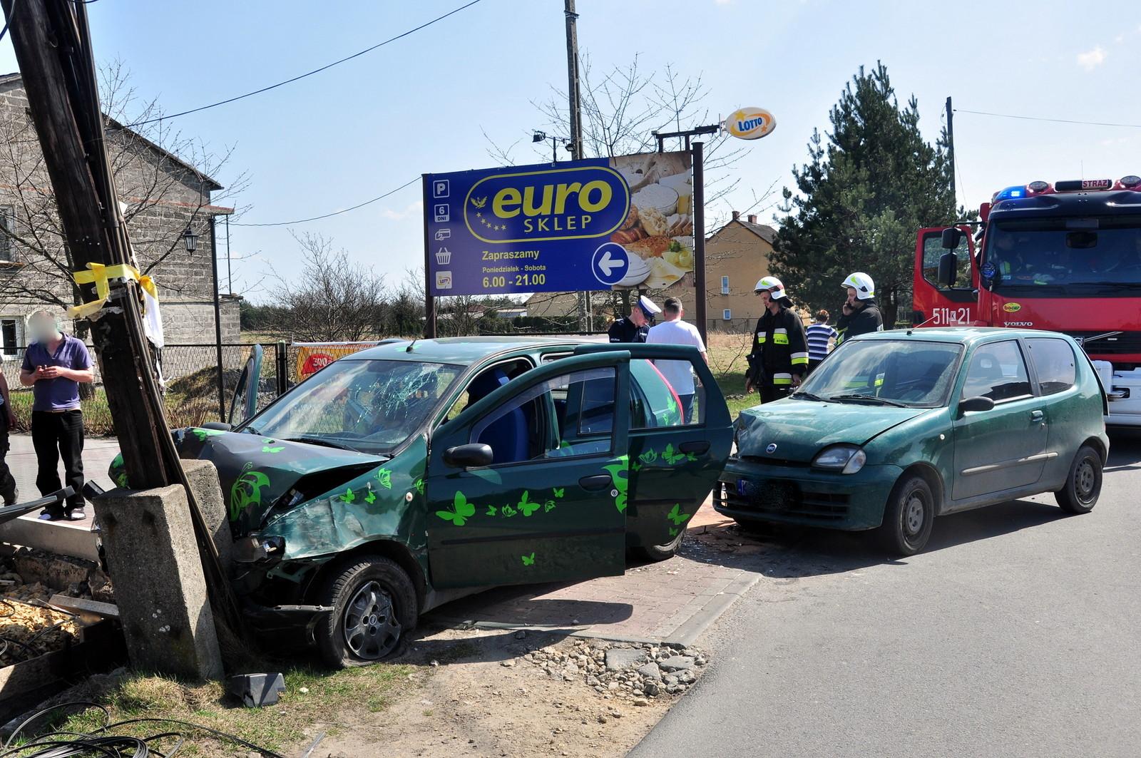 W Gorzowie sprawca wypadku uciekł z miejsca zdarzenia. Fot. Szymon Chabior