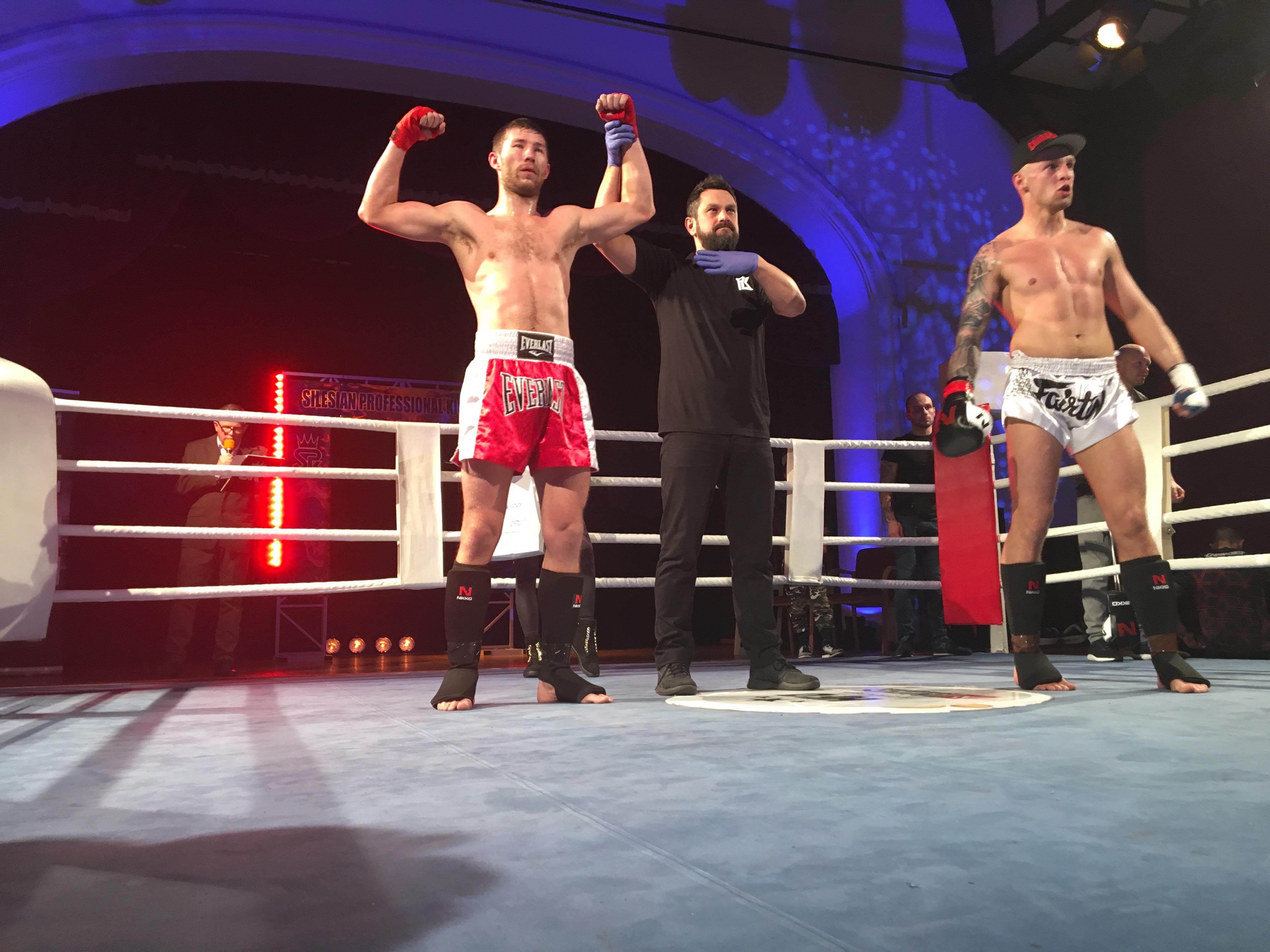 Oprócz Bartosza Fryca, zwycięstwo na katowickim ringu odniósł także Dawid Pawlus. Fot. zbiory klubu