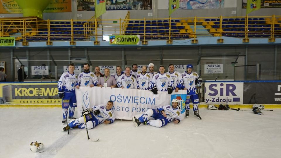 Oldboye oświęcimskiej Unii zajęli czwarte miejsce w rozgrywanych w Krynicy mistrzostwach Polski. Fot. nadesłane
