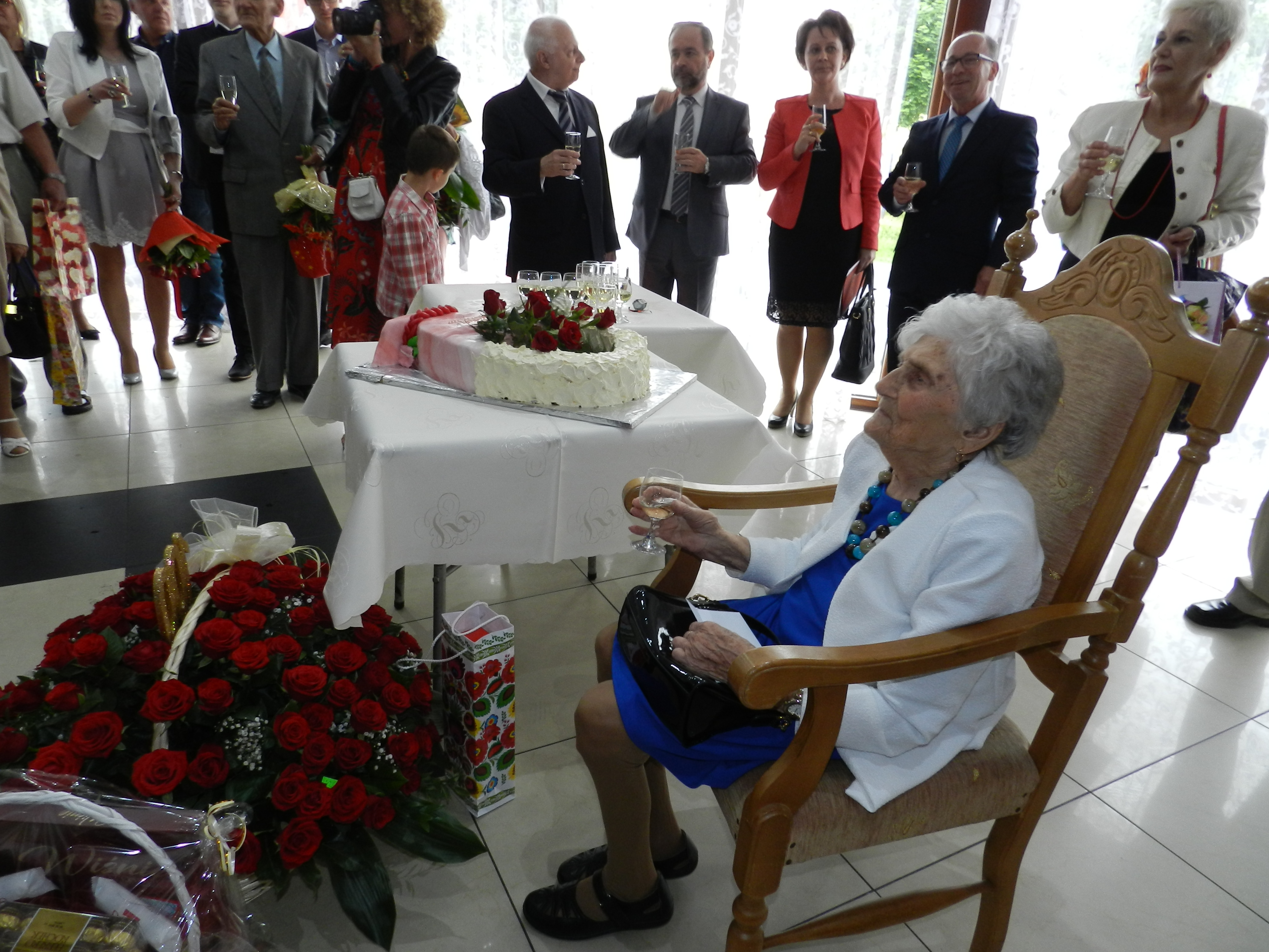 Pani Krystyna skończyła 100 lat. Fot. nadesłane