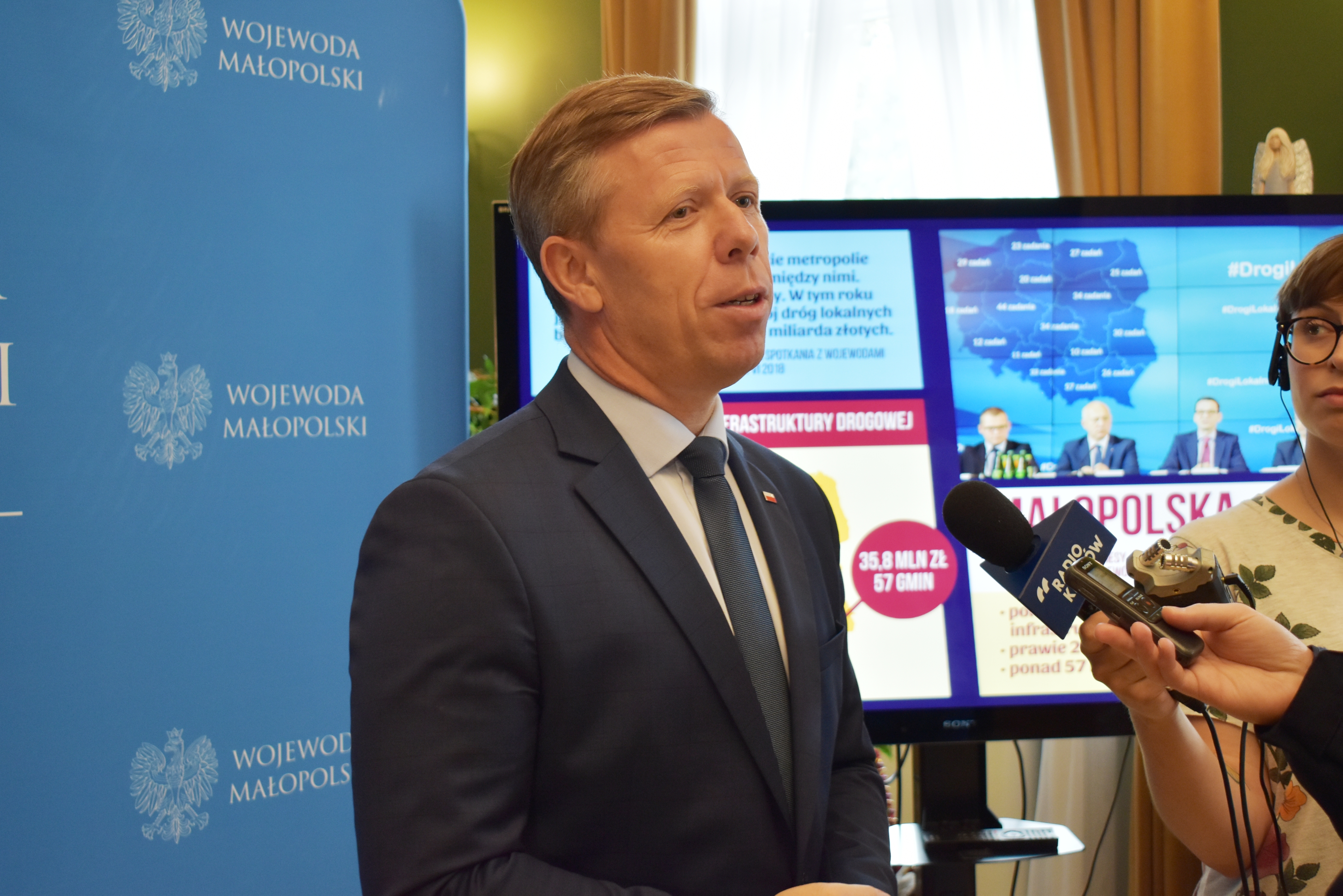 Wojewoda Piotr Ćwik. Fot. UWWM
