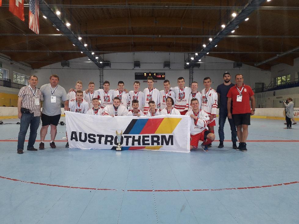 Polacy wygrali jeden mecz na hokejballowych mistrzostwach świata. Fot. nadesłane