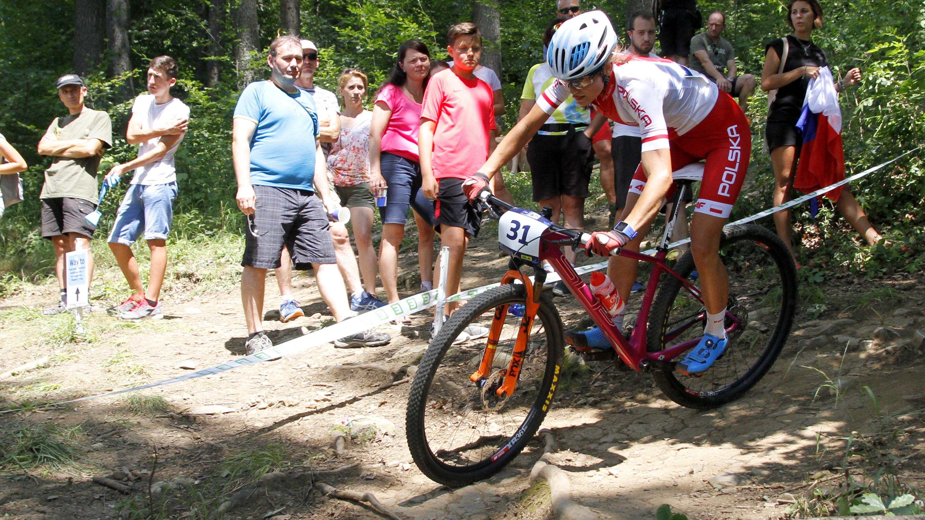 Gabriela Wojtyła zajęła 18. miejsce w wyścigu o młodzieżowe mistrzostwo Europy w kolarstwie górskim. Fot. Sebastian Żabiński/www.zator.pl