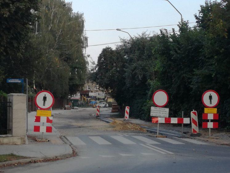 Widok na remontowaną ul. Garbarską. Fot. UM Oświęcim