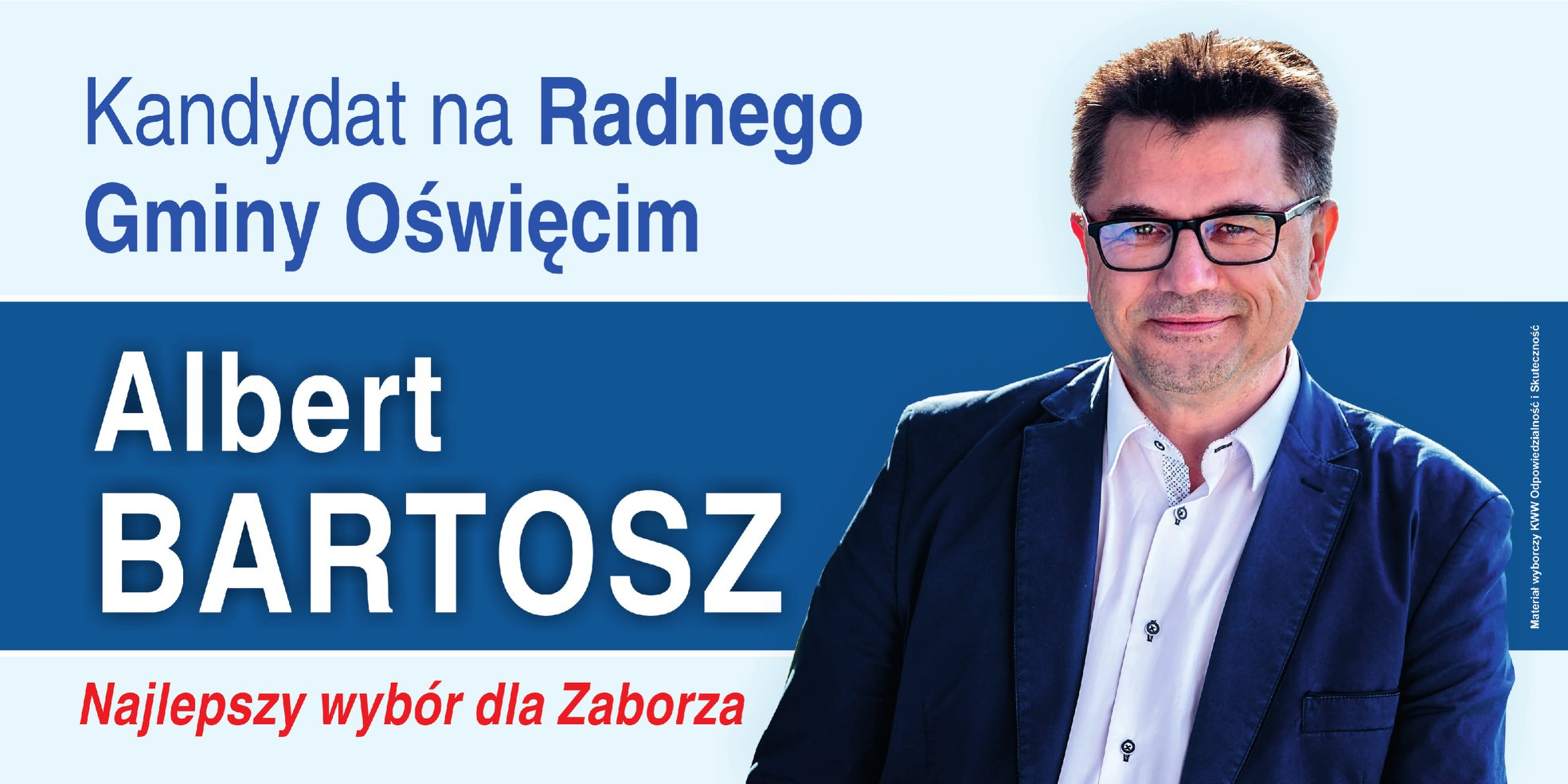 WYBORY. Wójt Bartosz kandyduje na radnego. Stwierdził, że pod jego rządami gmina rozwija się najlepiej w historii!