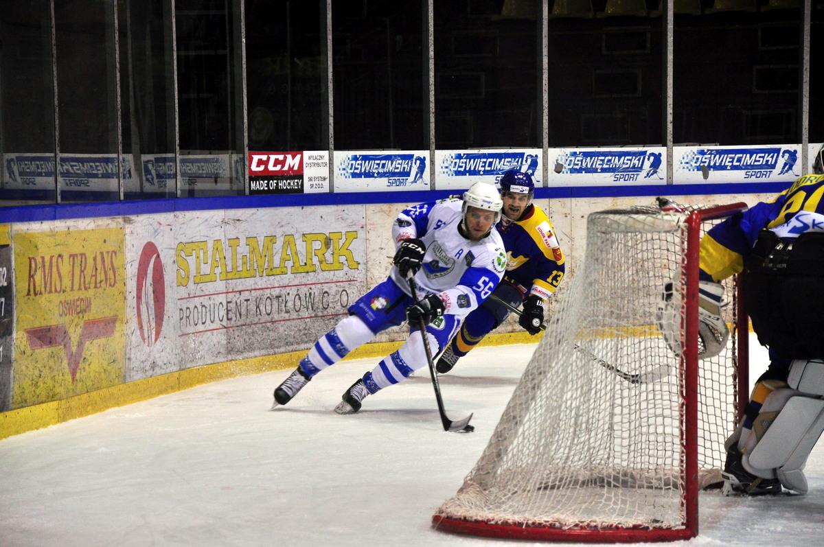Oświęcimianie spadli na ósme miejsce w tabeli Polskiej Hokej Ligi. Fot. Szymon Chabior