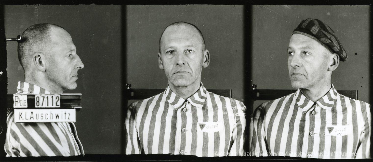 Jerzy Adam Brandhuber, zdjęcie wykonane przez obozowe gestapo.