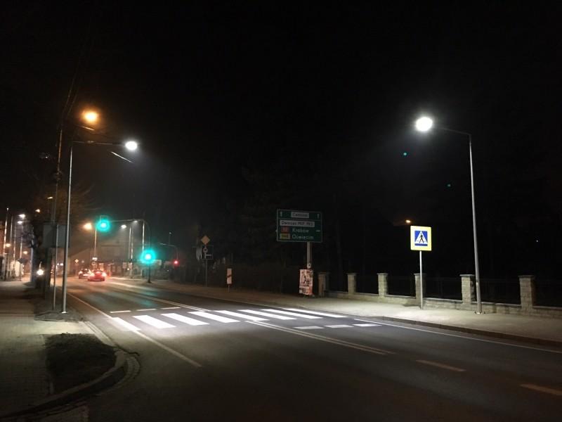Doświetlone przejście przy PZ nr 9. Fot. UG Kęty
