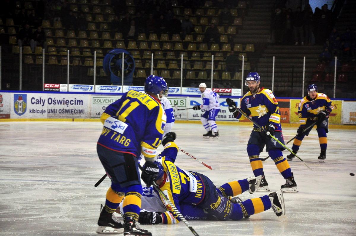 Meczem z Podhalem w Nowym Targu oświęcimianie otworzą hokejowy 2019 rok. Fot. Szymon Chabior