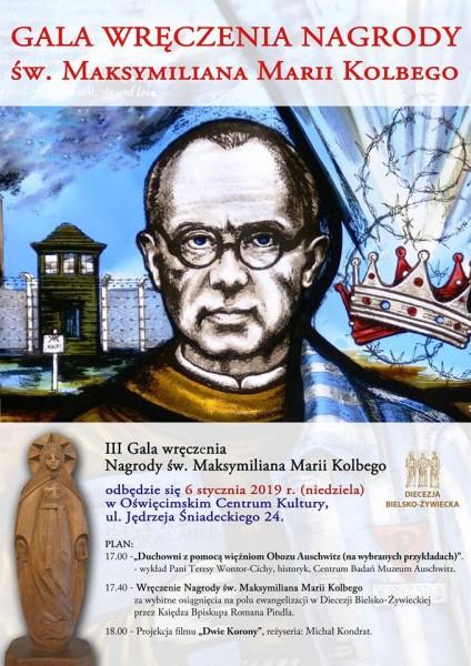 OŚWIĘCIM. Ordynariusz diecezji wręczy w OCK Nagrodę Św. Maksymiliana