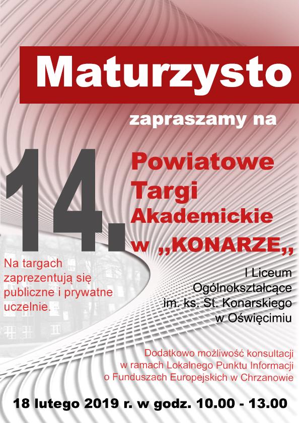 """OŚWIĘCIM. 14. Powiatowe Targi Akademicki w """"Konarze"""""""