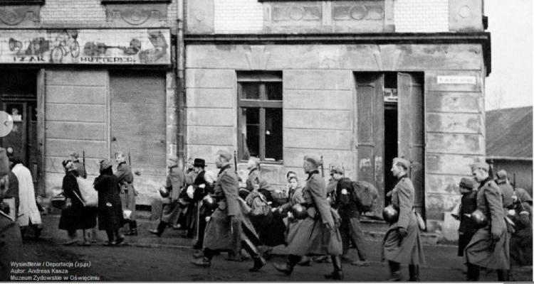 OŚWIĘCIM. Wysiedlenie Żydów z Oświęcimia