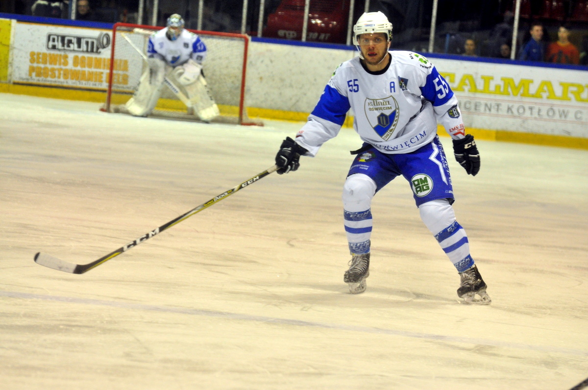 Peter Tabacek zostaje w Oświęcimiu i w dalszym ciągu będzie reprezentował biało-niebieskie barwy. Fot. Szymon Chabior