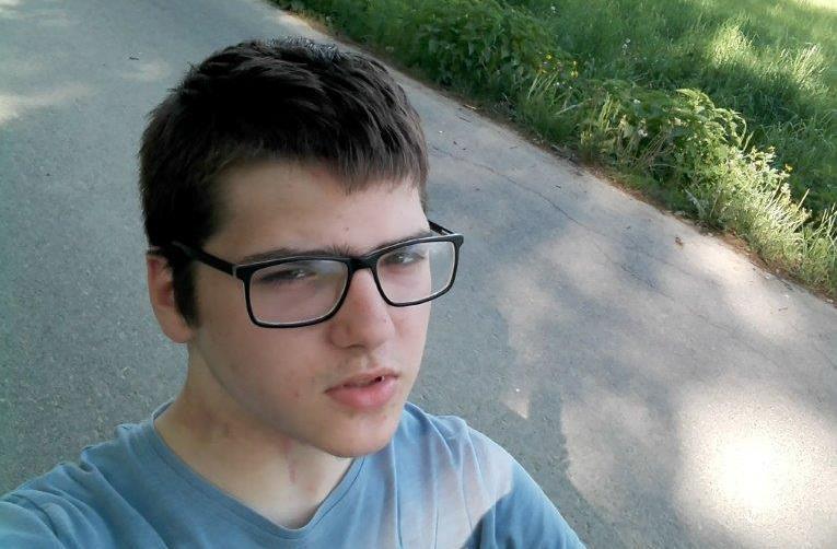 17-letni Daniel Piekarz. Fot. KPP Oświęcim