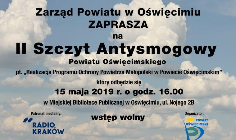 OŚWIĘCIM. II Szczyt Antysmogowy Powiatu Oświęcimskiego już jutro