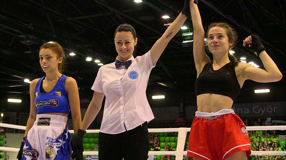 Dominika Chylińska (z prawej) zdobyła złoty medal mistrzostw Europy. Fot. zbiory OKK/nadesłane