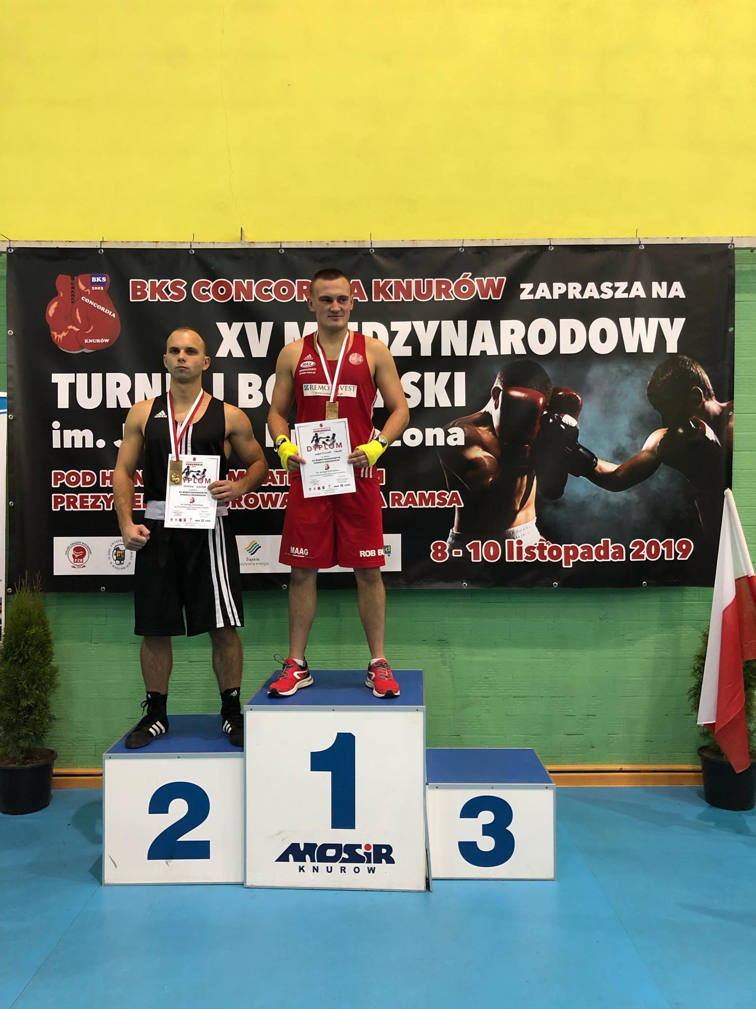 Wiktor Czopek zajął drugie miejsce w prestiżowym turnieju bokserskim w Knurowie. Fot. nadesłane