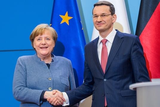 Angela Merkel i Mateusz Morawiecki. fot. Kancelaria Prezesa Rady Ministrów