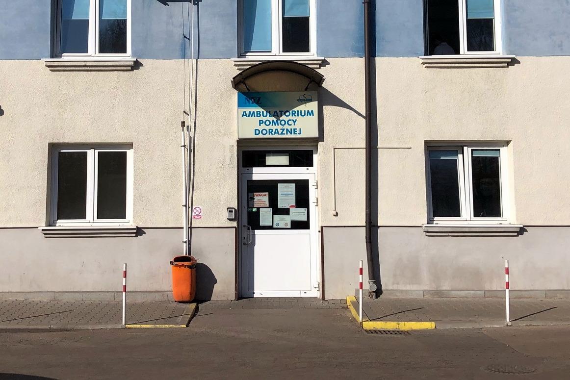 Kobieta z oświęcimskiego Multimedu trafiła do jednego z tyskich szpitali. Fot. sz