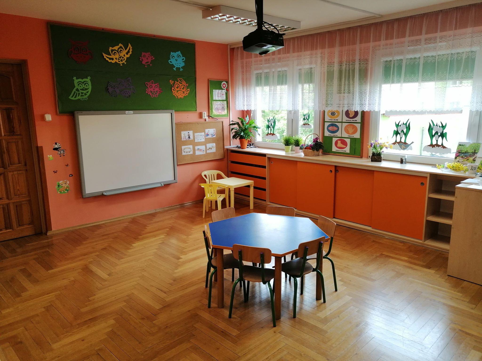 Jedna z sal Miejskiego Przedszkola nr 17 w Oświęcimiu, która została przygotowana do wznowienia funkcjonowania placówki. Fot. red
