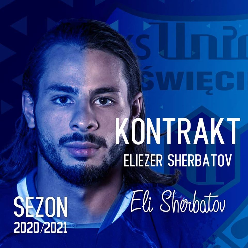 Izrealski napastnik Re-Plast Unii - Eliezer Sherbatov został zaatakowany przez rabina z Nowego Jorku, Elchanana Poupko.