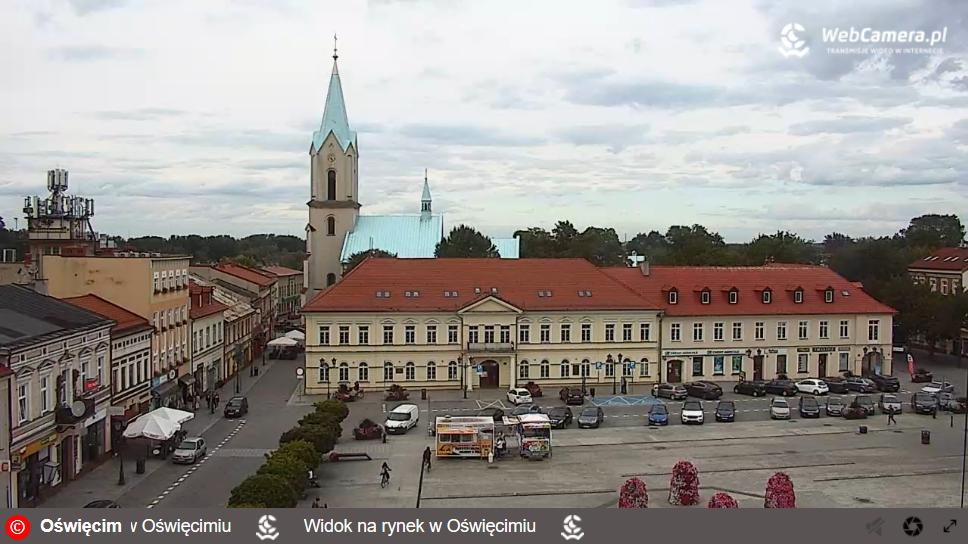 OŚWIĘCIM. Rynek na żywo w ogólnopolskim serwisie webcamera.pl