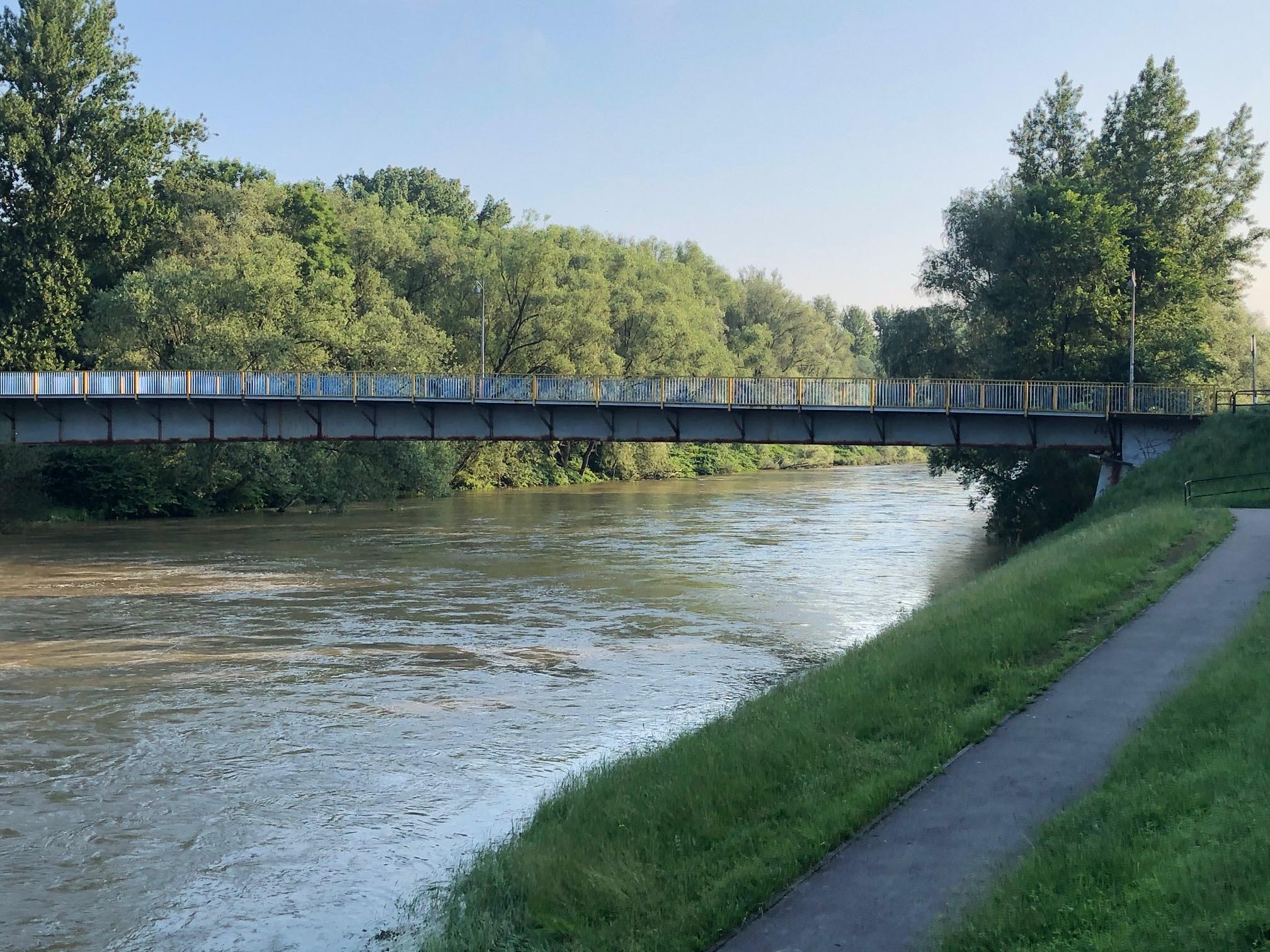 Fot. Rzeka Soła w Oświęcimiu