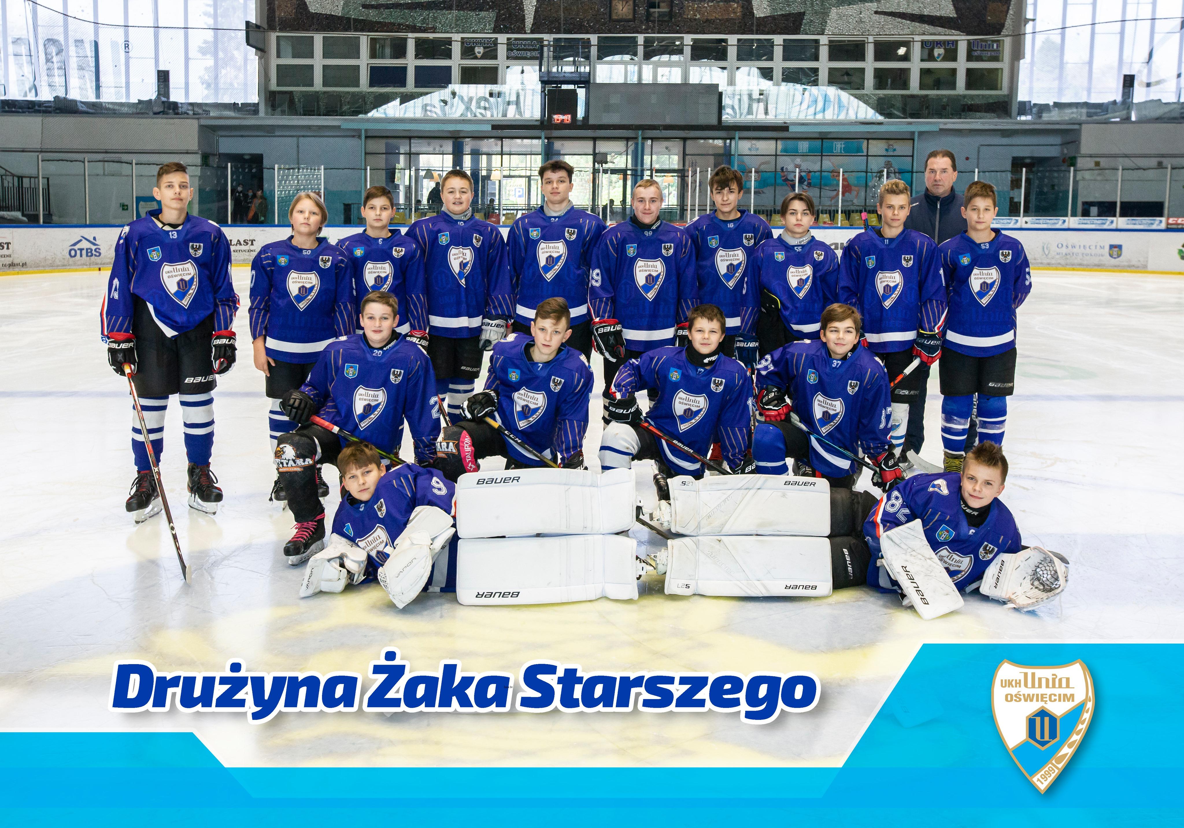 Młodzi hokeiści UKH Unii Oświęcim zajęli trzecie miejsce w karpackiej lidze juniorów U-14. Fot. Dariusz Łakomy/nadesłane